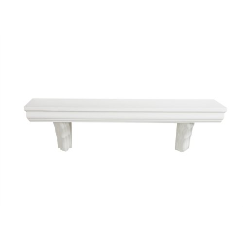 1534 Classic Bracketed Wall Mountable Shelf, Ivory, 35.4-Inch Wide by 7.5-Inch Deep ()