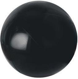 (Pack of 2) PVC Black Beach balls - 18in by JSPORT