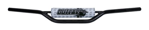 Outlaw Racing SH12SBK Motorcycle ATV Quad Mx Handle Bars Handlebar 7/8 ATV Bend Black Outlaw Racing Products