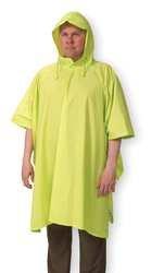 Nylon Rainwear Poncho - CONDOR 1EJY2 Poncho, Rainwear, PVC/Nylon, Lime, Universal