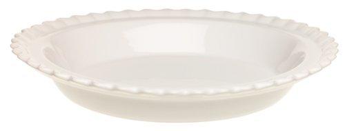 Chantal Ceramic 9-Inch Pie Dish, White