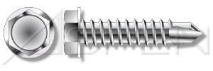 AISI 410 Stainless Steel Aspen Fasteners #12 X 2 10pcs Hex Indented Washer Self-Drilling Screws No Slot