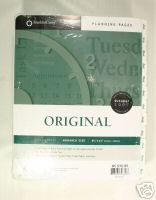 Franklin Covey Original Planning Pages; Daily Format; October 2007 - September 2008 (2007 2008 Calendar Planner)
