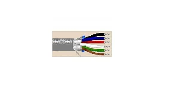 75FT Chrome Belden 9538 24 AWG 8C Stranded Overall Shielded Computer Cable for EIA RS-232 CMG FT4