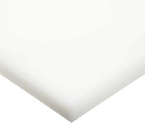 HDPE High Density Polyethylene Plastic Sheet 1//2 x 4 x 8 Natural