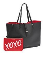 Victorias Secret Limited Edition Tote Bag Black and Red bag included