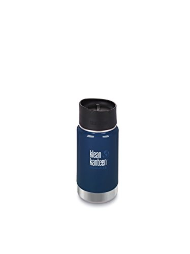 Klean Kanteen Deep Sea Wide Insulated Water Bottle with Cafe Cap 2.0