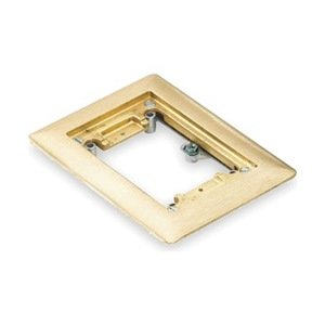 Floor Box Cover Plate Single Gang Brass Electrical