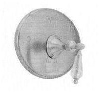Santec 2535YC70-TM Lear Crystal Polished Nickel Pressure Balance Tub/Shower - Trim Only W/ Yc Swarovski Crystal Handle - Crystal Lear Polished Nickel