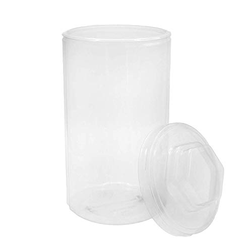 Kicko Pencil Container - 4.5 Inches x 8 Inches Transparent Pencil Organizer Jar with Lid - 1 Piece - Perfect for Office Table Organization, Decorations, School - 8 Jars Inch