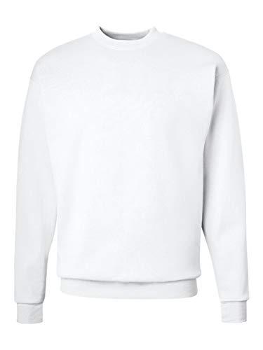 (Hanes Men's EcoSmart Fleece Sweatshirt, White, Medium)