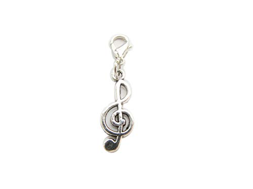 - Music Charm, Music Note Charm, zipper pull, Purse Charm, Charm on Lobster Clasp, Gift for Girl (Music 1x2.6cm)