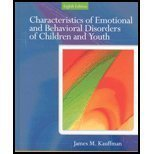 Characteristics of Emotional and Behavioral Disorders, Kauffman, James M., 0131529579