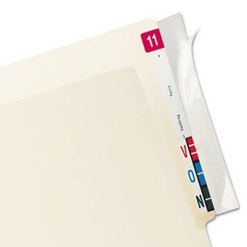 Tabbies 8 x 2 Inch Protector End Tab Folder, Clear, 100 per Pack (TAB68386)