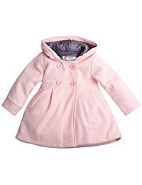 Baby Toddler Girls Fall Winter Trench Coat Wind Hooded Jacket Kids Outerwear (2-3 Years, Pink)