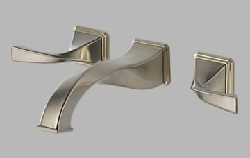 Brizo 65830LF-BN Virage Bathroom Faucet Double Handle Wall Mount with Metal Lever Handles, Brushed Nickel ()