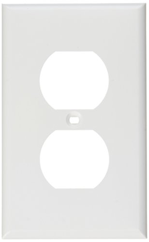 C2G/Cables to Go 3739 NEMA 106 Single Gang Electrical Wall Plate (White)