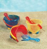 Small World Toys Sand & Water - Peek-A-Boo Bucket - Colors vary