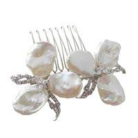SimanTu Two Flower Pearl Pin/Comb