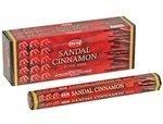 Sandalwood and Cinnamon - Box of Six 20 Gram Tubes - HEM - Cinnamon Incense