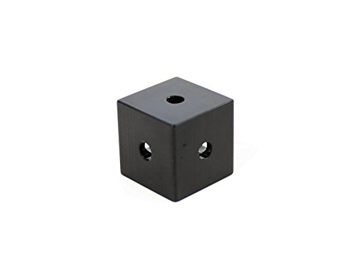 Makerbeam XL Corner Cube black (15x15x15mm) 12pcs