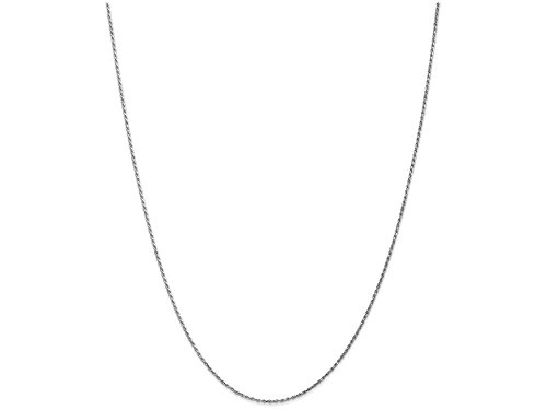 Machine Made Rope Chain (Finejewelers 20 Inch 10k White Gold 1.2mm Machine Made bright-cut Rope Chain Necklace)
