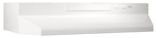 Broan F403611 Two-Speed Four-Way Convertible Range Hood, 36-Inch, White on White