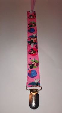 Muñeca Cadena para chupete, diseño de minnie, color rosa ...