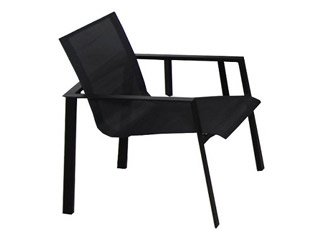 Fauteuil MIAMI 58 x 58 x 84cm alu et textilène noir DCB Groupe ALU ...