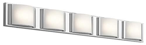 Elan 83823 LED   83823 Bretton Vanity Bath Wall Lighting,  Led 56 Total Watts,  83823 Bretton Vanity Bath Wall Lighting,  Led 56 T..., 5 Light, Chrome