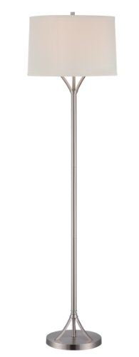 Lite Source LS-81990PS/WHT Floor Lamp with White Fabric Shades, 16