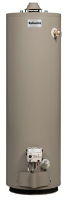 "Reliance 6 40 GOMT 35000 BTU 6150"" x 20"" D BTU Mobile Home Water Heater with Diverter, Conversion to LP Shipped Natural Gas Ready, 40 gallon"