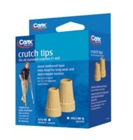 "Carex Extra Large Crutch Tips, 7/8"", Tan"