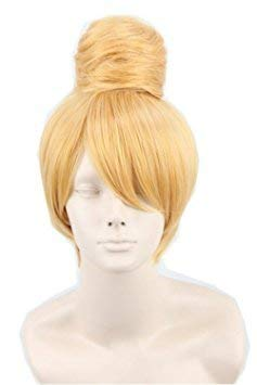 (Women's Fiber Short Straight Cosplay Costume Wig Party Hair Gold)