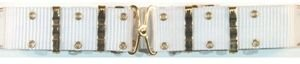 Fox Outdoor Nylon Pistol Belt - Metal Buckle, White 50-16 WH