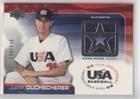 Justin Duchscherer #156/850 (Baseball Card) 2004 Upper Deck USA Baseball 25-Year Anniversary - Jerseys #GU-JD