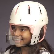 Danmar Products Hard Shell Helmet with Face Bar, Small, Pink Foam Liner