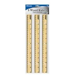 DDI - Bazic 12'' (30cm) Wooden Ruler (3/Pack) (1 pack of 144 items)