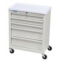 (9840023 Procedure Cart 5-Drawer Mobile White Ea Homak Mfg Co.)