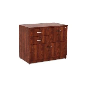 Charming Lorell Essentials 4 Drawer Lateral File Cabinet In Cherry