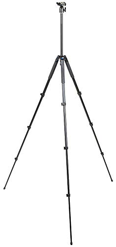 SLIK Sprint PRO III Travel Tripod w/SBH-100 Ball Head for Mirrorless/DSLR Sony Nikon Canon Fuji Cameras and More - Black (611-889) (Color: Black, Tamaño: Ball Head)