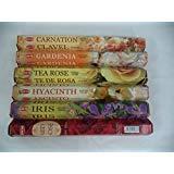 Hem Floral Variety Combo Set 120 Incense Sticks 6 x 20 Stick Flower Best Sellers