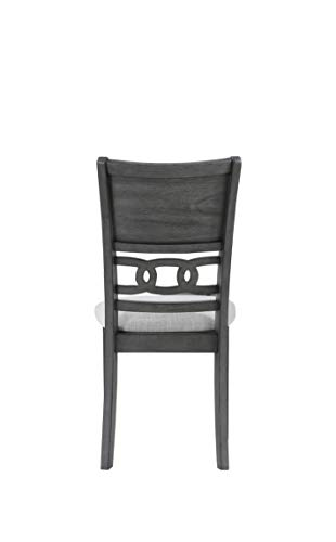 New Classic Furniture Gia Round Dining Set, Gray - Expertly constructed of Mindi and rubber wood solids and veneers Finished in a rich ebony color versatile with any Décor Reverse Diamond match veneer tops - kitchen-dining-room-furniture, kitchen-dining-room, dining-sets - 21BycwzswWL -