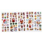 Happy Merry Christmas Gift Santa Claus Decals Sticker(5 Sheet)