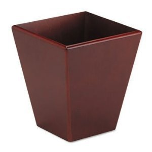 sanford Eldon Wood Wastebasket, Mahogany (99200) by Sanford