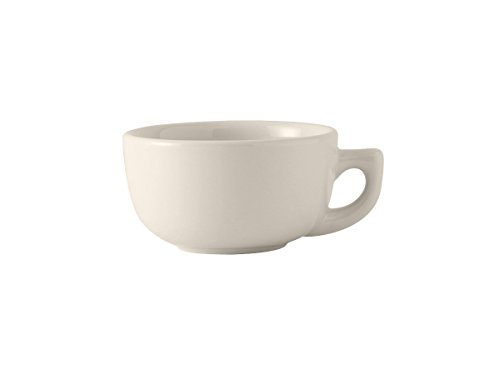 14 Ounce Cappuccino Cup - Tuxton BEF-1402 Vitrified China Cappuccino Cup, 14 oz, Eggshell (Pack of 24),