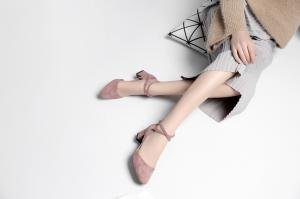 mujer Zapatos Cordones con Rosa Planos hexiajia p6I1xqwzCz