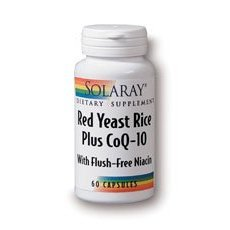 Solaray Red Yeast Rice Plus CoQ-10 — 60 Vegetarian Capsules For Sale