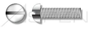 (200pcs) #4-40X1 Round Head Slot Drive Machine Screws, Full Thread, STAINLESS STEEL 304, Ships FREE in USA by Aspen Fasteners