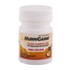 Topical Anesthetic Gel - Beutlich HurriCaine Pina Colada Flavored Topical Anesthetic Gel 1 oz. Jar